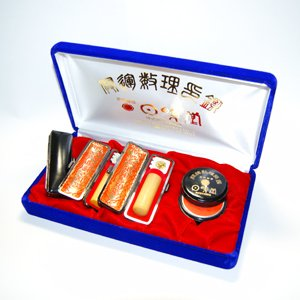 画像1: 金冠木・柘 3本セット (実印・銀行印・認印-18ミリ・15ミリ・12.1ミリ)